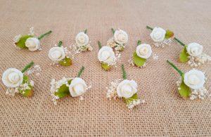 Flores sueltas marfil