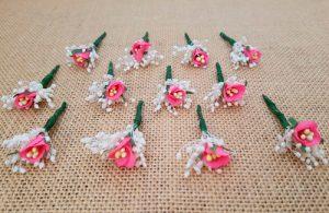 Flores sueltas fucsia