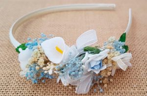 Diadema bebé azul