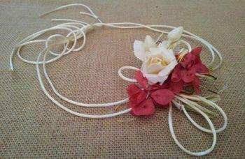 Cordón raso con hortensias