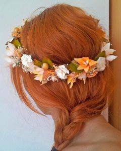 Corona novia ibicenca naranja