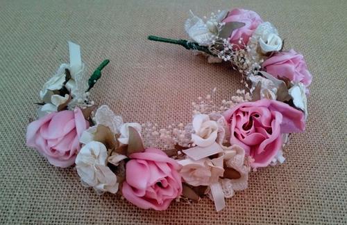 Diadema Flores Vintage