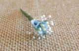 Flores sueltas azules 3