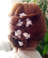 Flores sueltas hortensias y perlas 3