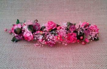 Media Tiara flores rosas