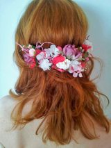 Prendido flores de hortensia rosa 2
