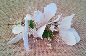 Tocado novia mariposas