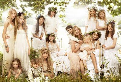 Flores en la boda de Kate Moss