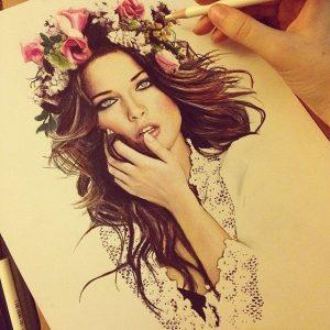 dibujo-corona-flores