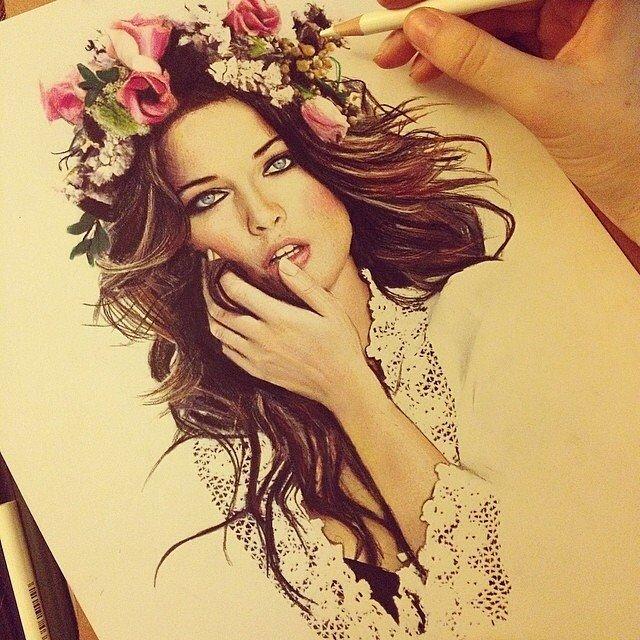 Arte e inspiración con flores