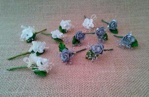 flores sueltas gris perla
