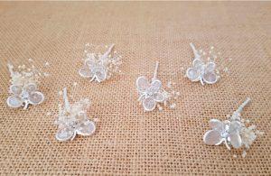 Flores sueltas mariposa plata