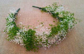 diadema ramajes flores