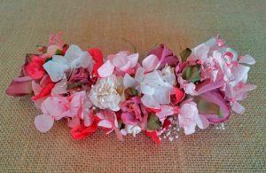 prendido flores de hortensia rosa