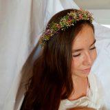 Corona novia lavanda