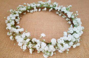 Corona paniculata blanca
