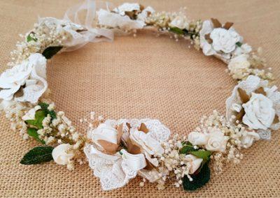 Corona blanca ibicenca con paniculata