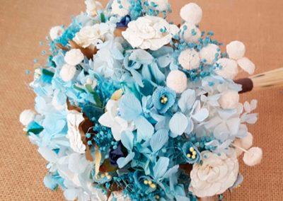Ramo novia tipo bouquet hortensias