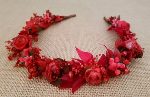 Diadema roja paniculata