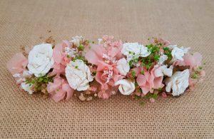 Prendido de hortensias rosa