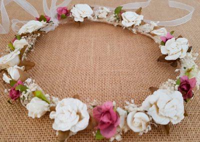 Corona flores vintage