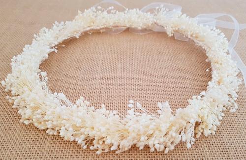 Corona novia marfil