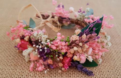 Pulsera o tobillera Flores secas y olivo