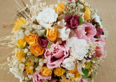 Ramo novia rosas y paniculata