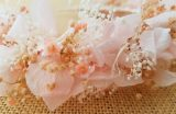 Diadema hortenias rosa empolvado
