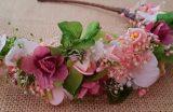 Diadema flores silvestres verde
