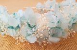 Diadema hortenias azul cielo