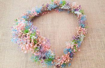 Tiara flores secas