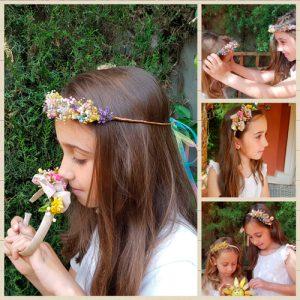 Diademas de flores para niñas
