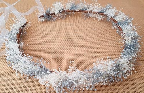 Corona novia gipsófilas plata