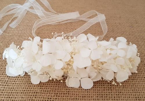 Prendido hortensias blancas