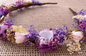 diadema flores malva morada_2